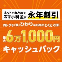 GMOとくとくBB auひかり(キャッシュバック)